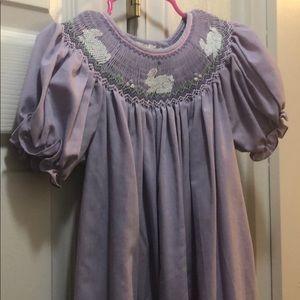 Easter Bunny Smocked Dress